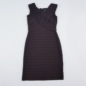Adrianna papell brown tiered dress 8p